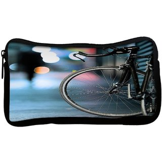 Bicycles Digital Art Poly Canvas Multi Utility Travel Pouch