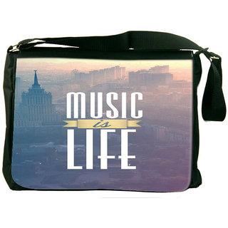 Music Is Life Designer Laptop Messenger Bag