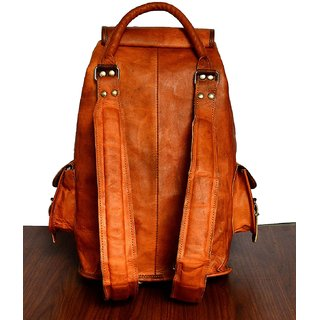 ed24d61fbd8a znt leather 16 Genuine Leather Retro Rucksack Backpack College Bag,school  Picnic Bag Travel men women Genuine Leather