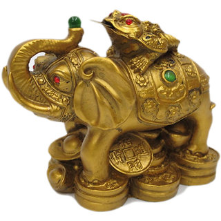 Feng Shui - Money Frog on Elephant (Boosts Luck & Wealth)