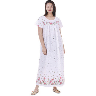 Nightwear Gown, Sleepwear 100  Cotton, Maxi - Soft and Stylish Night Suit, Cotton