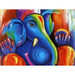 ganesha oil painting on canvas
