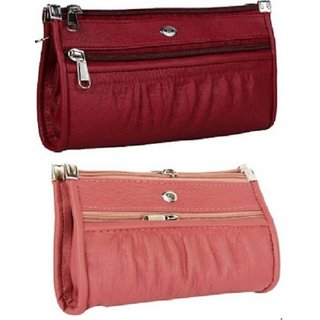 varsha women clutch 09 pink marron