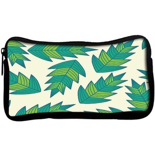 a seamless leaf patternPoly Canvas  Multi Utility Travel Pouch