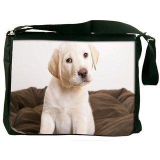 Cute Puppy Eyes Wide Digitally Printed Laptop Messenger  Bag