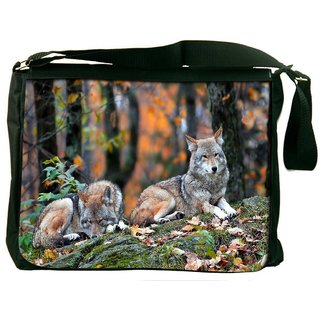 Snow Dogs Digitally Printed Laptop Messenger  Bag