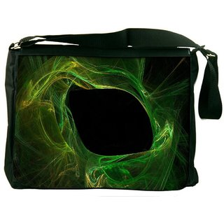 Green Smoke Pattern Digitally Printed Laptop Messenger  Bag