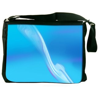 Wavy Pathway Design Digitally Printed Laptop Messenger  Bag
