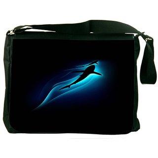 Abstract Shark Digitally Printed Laptop Messenger  Bag
