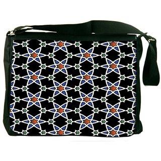 Orange Star Pattern Digitally Printed Laptop Messenger  Bag