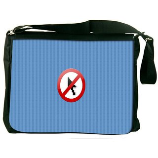 No Cursor Digitally Printed Laptop Messenger  Bag