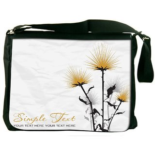 Simple Text White Digitally Printed Laptop Messenger  Bag
