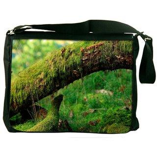 Green Tree Digitally Printed Laptop Messenger  Bag