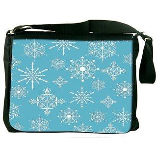 Seasons Spring Blue Digitally Printed Laptop Messenger  Bag
