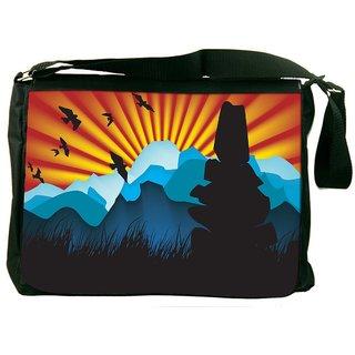 Beautiful Landscape Background Designer Laptop Messenger Bag