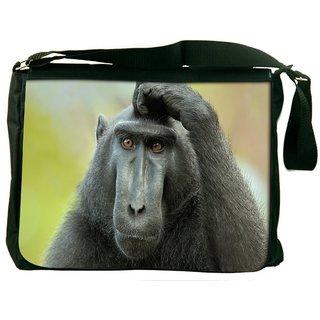 Black Ape Digitally Printed Laptop Messenger  Bag