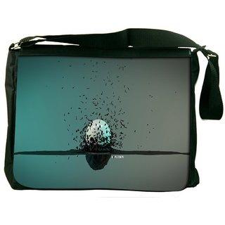 Explosion Around A Sphere Digitally Printed Laptop Messenger  Bag