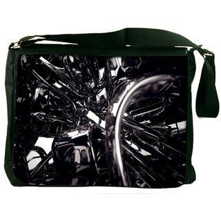 Dark Mechanism Digitally Printed Laptop Messenger  Bag
