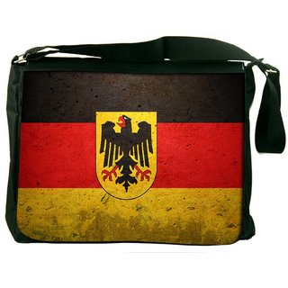German Flag Digitally Printed Laptop Messenger  Bag