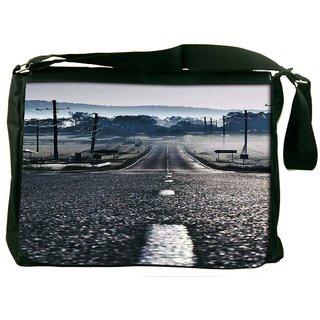 Road To Peace Designer Laptop Messenger Bag