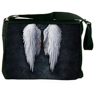 Broken Angel Wings Digitally Printed Laptop Messenger  Bag