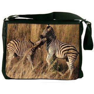 Couple Zebra Digitally Printed Laptop Messenger  Bag