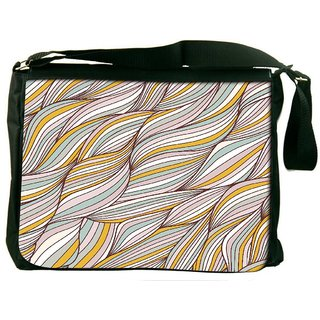 Lite Color Leaves Digitally Printed Laptop Messenger  Bag