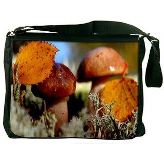 Shining Mushroom Digitally Printed Laptop Messenger  Bag