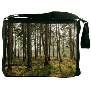 Abstract Trees Digitally Printed Laptop Messenger  Bag
