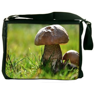 Tiny Mushroom Digitally Printed Laptop Messenger  Bag