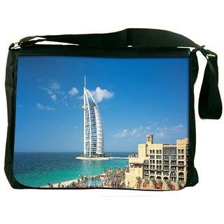 Amazing Structure Digitally Printed Laptop Messenger  Bag