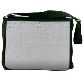 Small Bubbles Digitally Printed Laptop Messenger  Bag