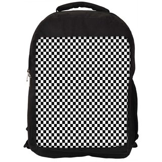 Abstract Chess Pattern Digitally Printed Laptop Backpack
