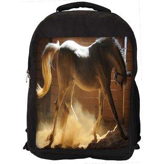 White Horse Digitally Printed Laptop Backpack