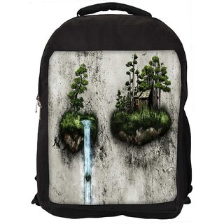 Water Pouring Digitally Printed Laptop Backpack