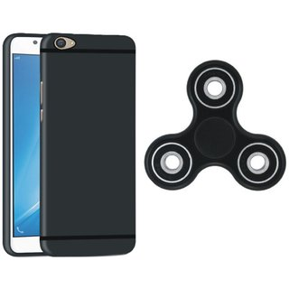 Motorola Moto C Plus Stylish Back Cover with Spinner, Free Silicon Back Cover