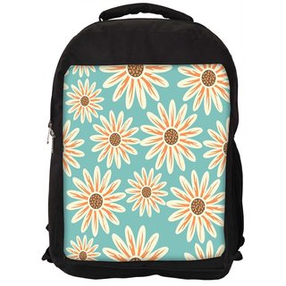 Seamless Floral Pattern Flowers Texture Daisy Digitally Printed Laptop Backpack