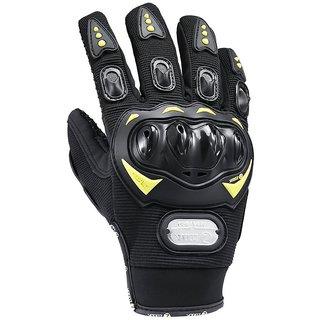 Zoook ZMT-BK300 Bike Safety Gloves for Bikers Black