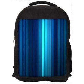 Blue Strips Digitally Printed Laptop Backpack
