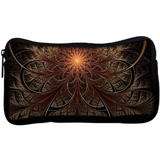 Fractal Lines Abstract Poly Canvas  Multi Utility Travel Pouch