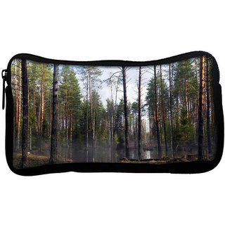 Flood In Forest Poly Canvas  Multi Utility Travel Pouch