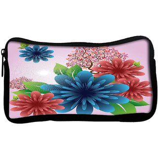 spring flowersPoly Canvas  Multi Utility Travel Pouch