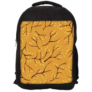 Leaves Light Blue Pattern Digitally Printed Laptop Backpack