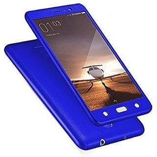 BS iPaky Full 360 Protection Front & Back Cover  With Tempered Glass for Samsung Galaxy  J5 (Blue)