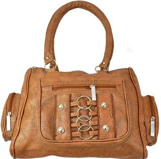 DNA Infinity Brown Elegant Leatherette Designer Trendy  Stylish Women's Handbag (DIY55)