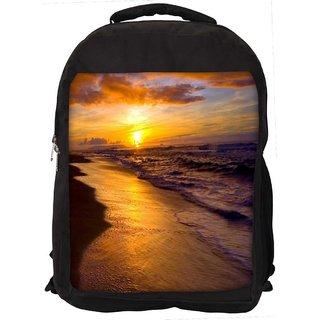 Sea Summer Digitally Printed Laptop Backpack