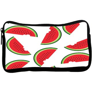 Watermelon Poly Canvas S Multi Utility Travel Pouch