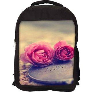 Miniature Roses Designer Laptop Backpacks
