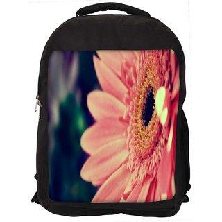 Pink Gerbera Flower Digitally Printed Laptop Backpack