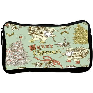 Santa Clause Poly Canvas S Multi Utility Travel Pouch